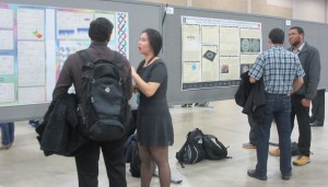 Ziyi and Michael in action during the poster session