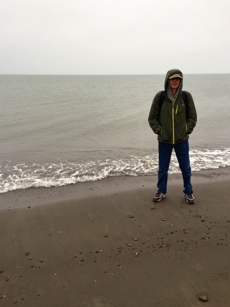 On the shore of the Arctic Ocean, Barrow Alaska, August 2015, 45°F and raining
