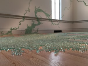 A portion of Maya Lin's Folding the Chesapeake