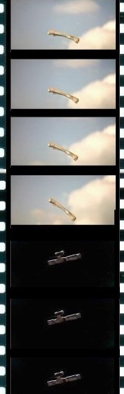 Kubrick's transcendent match cut, millions of years in 1/24th of a second, from the film 2001: A Space Odyssey