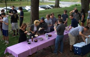 Ice cream social for all summer research students