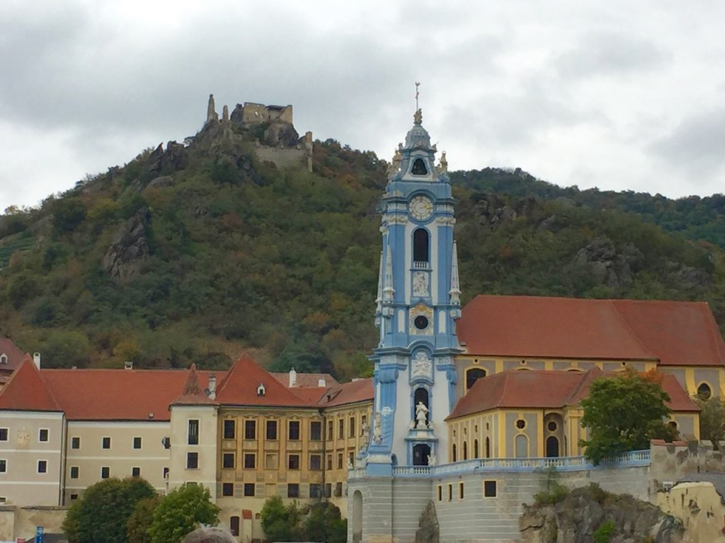 The ruins at Dürnstein, on the Danube River