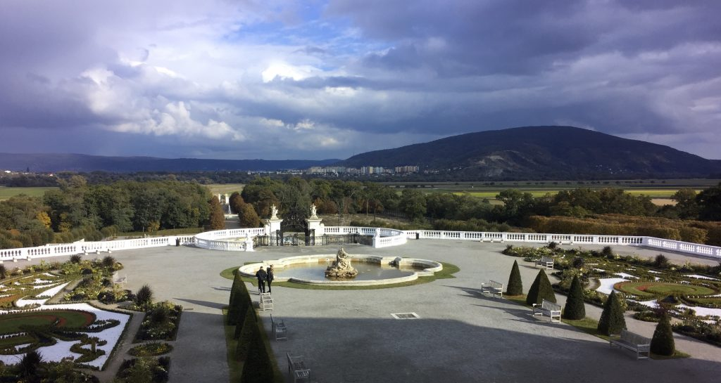View toward Slovakia, from Schloss Hof
