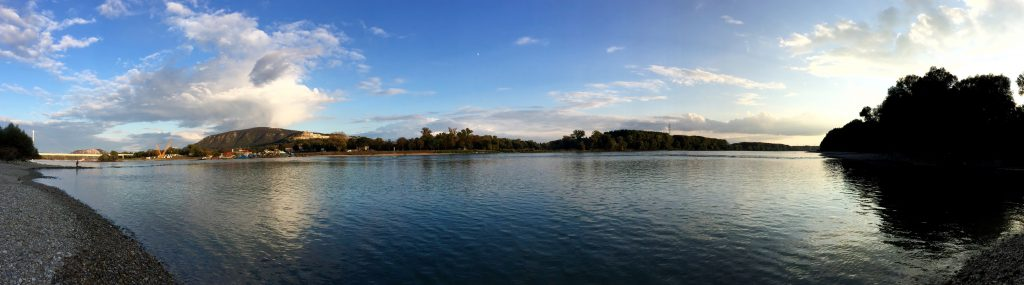 Panorama of the Danube River between Vienna and Bratislava