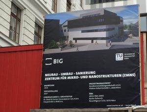 Billboard showing the new ZMNS building