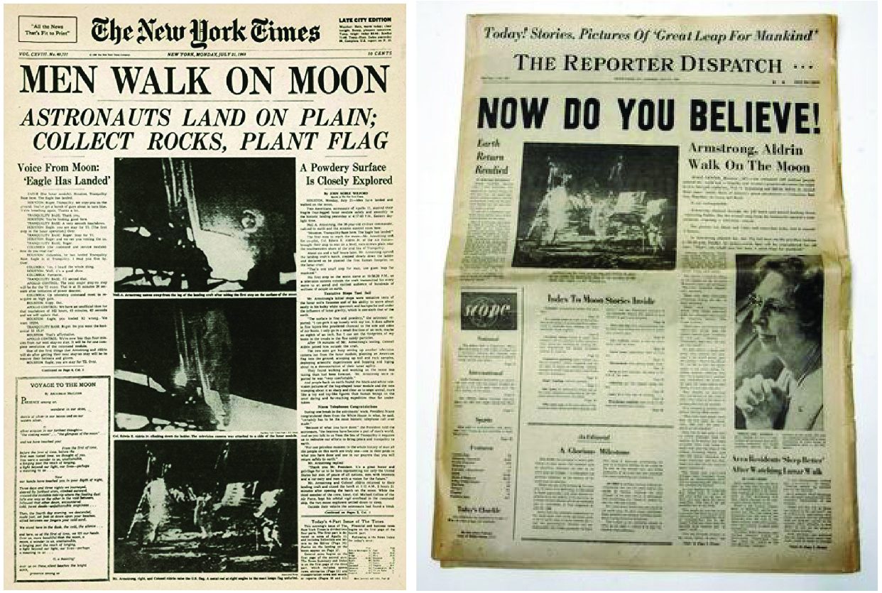 My Monday morning newspapers, July 21, 1969