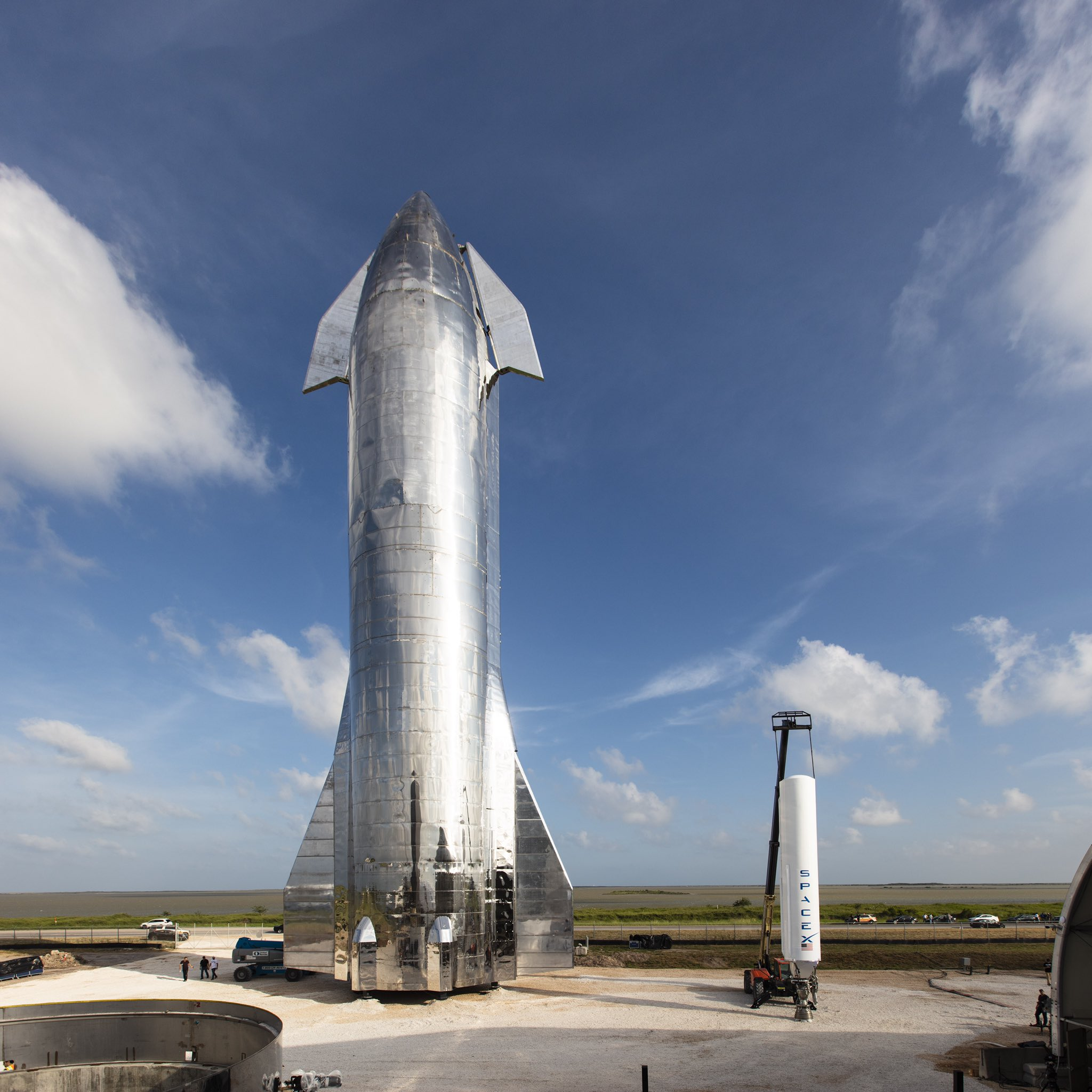 SpaceX Stainless Steel Starship Prototype