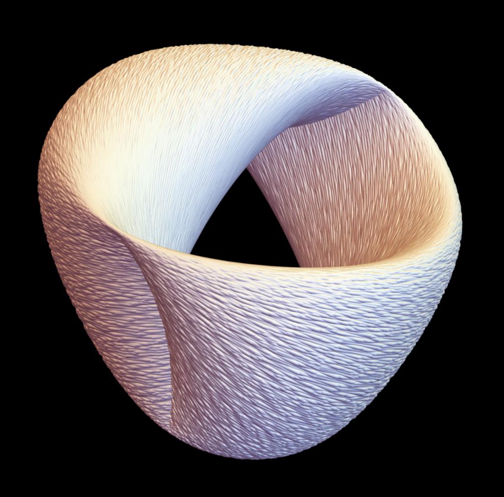 3D projection of a 4D Hamiltonian flow