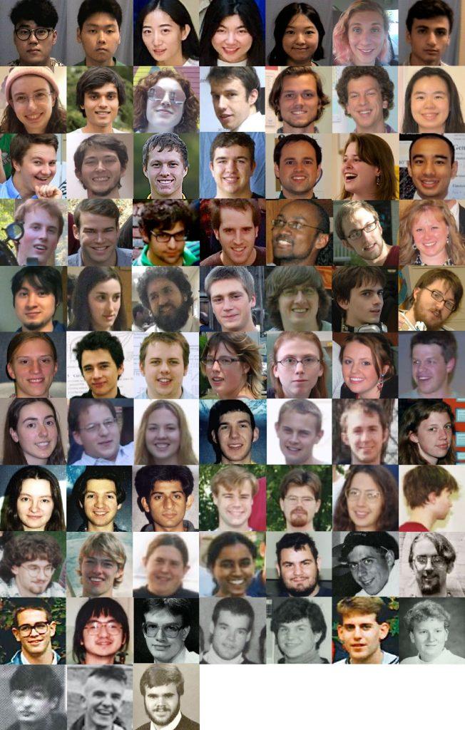 73 yearlong senior-thesis co-adventurers